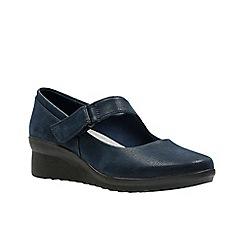 Clarks - Black 'Caddell yale' shoes