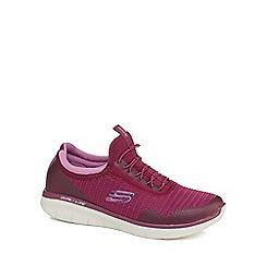 Skechers - Purple 'Synergy 2.0 Mirror Image' slip-on trainers