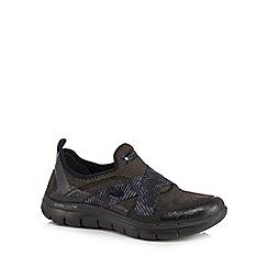 Skechers - Black 'Flex Appeal 2.0 Brit Eye' slip-on trainers