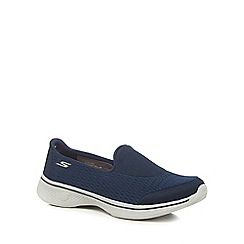 Skechers - Navy 'Go Walk 4 Pursuit' slip on trainers