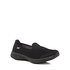 Skechers - Black 'Go Walk 4 Pursuit' slip on trainers