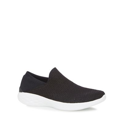 Skechers - Black 'You' slip-on trainers