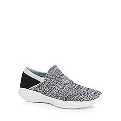 Skechers - Grey 'You' slip-on trainers