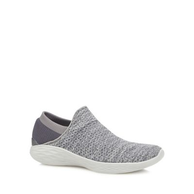 Skechers - Grey 'You Inspire' slip-on trainers