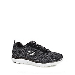 Skechers - Black 'Flex Appeal 20' wide fit trainers