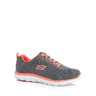 8f891adf1082 Skechers Grey  Flex Appeal 2.0  wide fit trainers