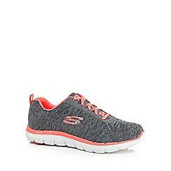 Skechers - Grey 'Flex Appeal 2.0' wide fit trainers