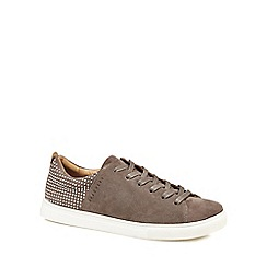 Skechers - Taupe suede 'Moda' lace up trainers
