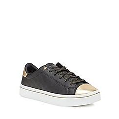 Skechers - Black leather 'Hi-Lite' trainers