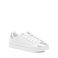 Skechers - White leather 'Hi-Lite' trainers