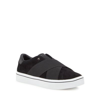 Skechers - Black suede 'Hi-Lite' slip-on trainers