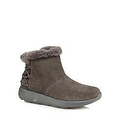 Skechers - Dark grey suede 'On The Go City 2' ankle boots
