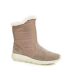 Skechers - Taupe 'On-The-Go City 2' ankle boots