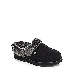 Skechers - Black 'Keepsakes Ice Angel' mule slippers