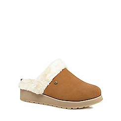 Skechers - Tan 'Keepsakes' mule slippers
