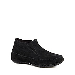 Skechers - Black suede 'Bikers Spirit' slip on trainers