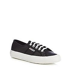 Superga - Black 'Efglu' leather trainers