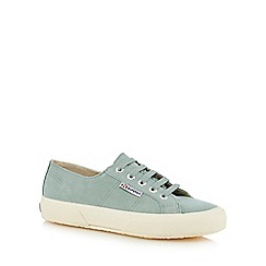 Superga - Green 'Sueu' suede trainers
