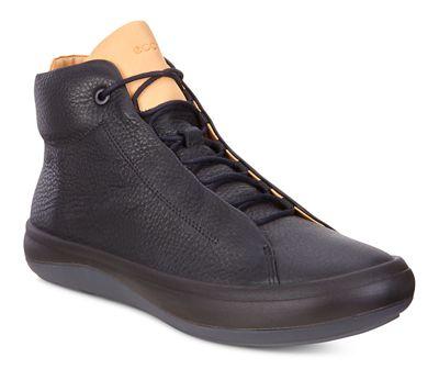 Ecco - Black kinhin ankle-high sneakers