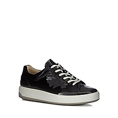 ECCO - Black patent leather 'Soft 9' trainers