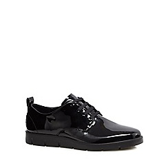 ECCO - Black patent leather 'Bella' lace-up shoes