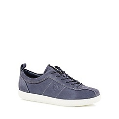 ECCO - Blue leather 'Soft 1' trainers