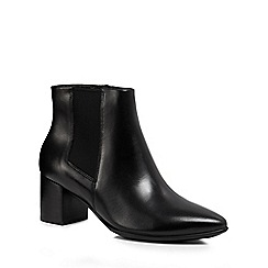 ECCO - Black leather 'Shape 45' mid block heel ankle boots