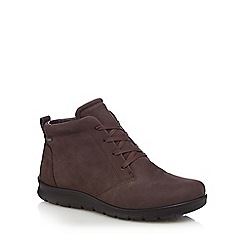 ECCO - Brown leather 'Babett' lace-up boots