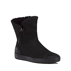 ECCO - Black suede 'Fara' ankle boots