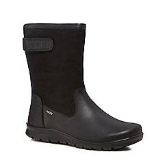 ECCO - Black leather 'Babett' ankle boots