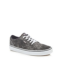 Vans - Grey leather 'Winston' lace up trainers