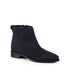 J by Jasper Conran - Navy suede 'Judd' block heel ankle boots