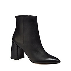 J by Jasper Conran - Black leather 'Juju' high block heel ankle boots