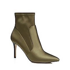J by Jasper Conran - Olive green 'Jaya' high stiletto heel ankle boots