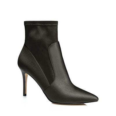 J by Jasper Conran - Black 'Jaya' high stiletto heel ankle boots