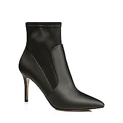 J by Jasper Conran - Black 'Jaya' high stiletto heel ankle boots