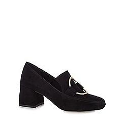 J by Jasper Conran - Black suede 'Jilt' mid block heel loafers