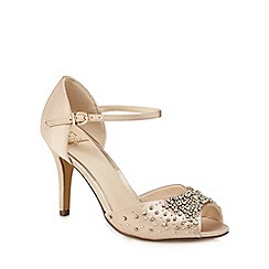No. 1 Jenny Packham - Light pink 'Periwinkle' high stiletto heel peep toe sandals