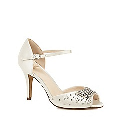 No. 1 Jenny Packham - Ivory 'Periwinkle' high stiletto heel peep toe sandals