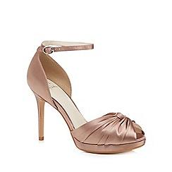 No. 1 Jenny Packham - Light pink satin 'Prima' high stiletto heel ankle strap sandals