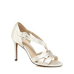 No. 1 Jenny Packham - Ivory glitter 'Pastel' high stiletto heel sandals