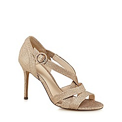 No. 1 Jenny Packham - Gold glitter 'Pastel' high stiletto heel sandals