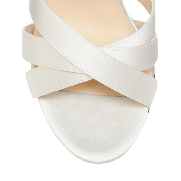 Ivory ankle block Packham strap No heel high sandals 1 Jenny 'Pearl' satin wqt7E0zx7