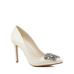 No. 1 Jenny Packham - Silver 'Pricilla' high stiletto heel court shoes