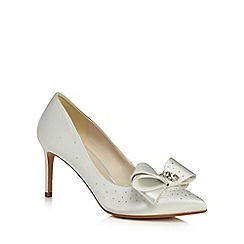 No. 1 Jenny Packham - Ivory 'Penelope' mid stiletto heel court shoes