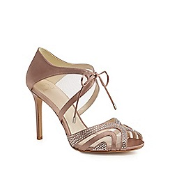 No. 1 Jenny Packham - Pink satin 'Peyton' high stiletto heel peep toe shoes