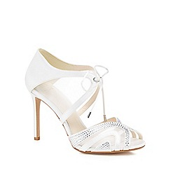 No. 1 Jenny Packham - Ivory satin 'Peyton' high stiletto heel peep toe sandals