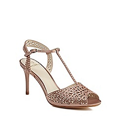No. 1 Jenny Packham - Pink diamante 'Petra' high stiletto heel T-bar sandals