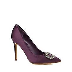 J by Jasper Conran - Dark purple 'Jessie' high stiletto heel court shoes