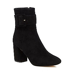 J by Jasper Conran - Black suede 'Jinger' high block heel ankle boots